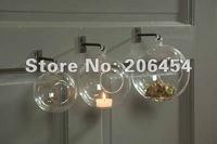 12 см стекло висит цветок ваза Свеча держатель свадьба праздник украшение Ханинг стекла пузырь