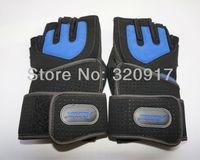 218# тренажерный зал фитнес тяжестей тренировки мужчин запястье обертывание упражнения перчатки черный синий m l xl