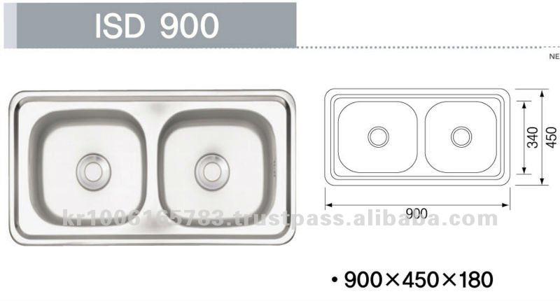 Pia de cozinha em aço inoxidávelPias para cozinhaID do produto132919479po -> Tamanho Padrao De Pia De Banheiro