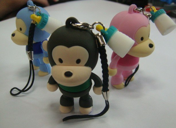 30pcs/lot Free DHL drop ship!!! 100% full 2GB/4GB/8GB memory size monkey usb