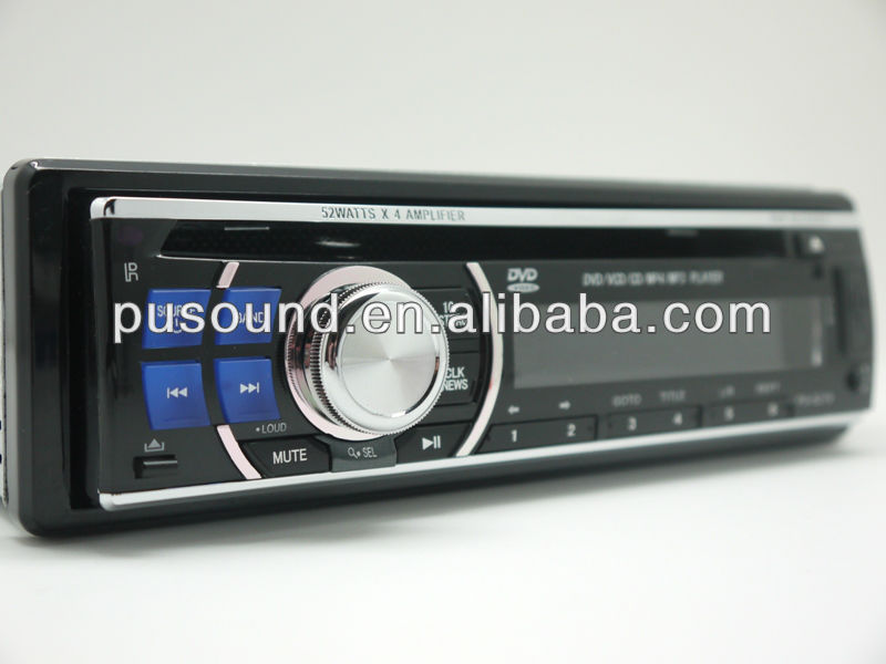 car dvd cd mp3 mp4 player without screen with USB SD ,front and back AUX IN slots