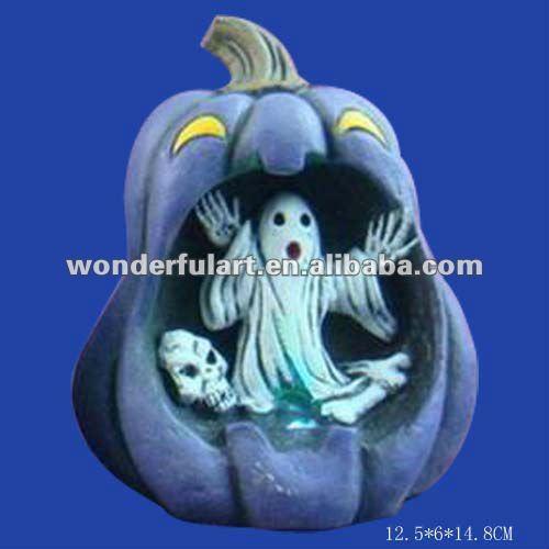 cheap ceramic wholesale halloween craft pumpkins