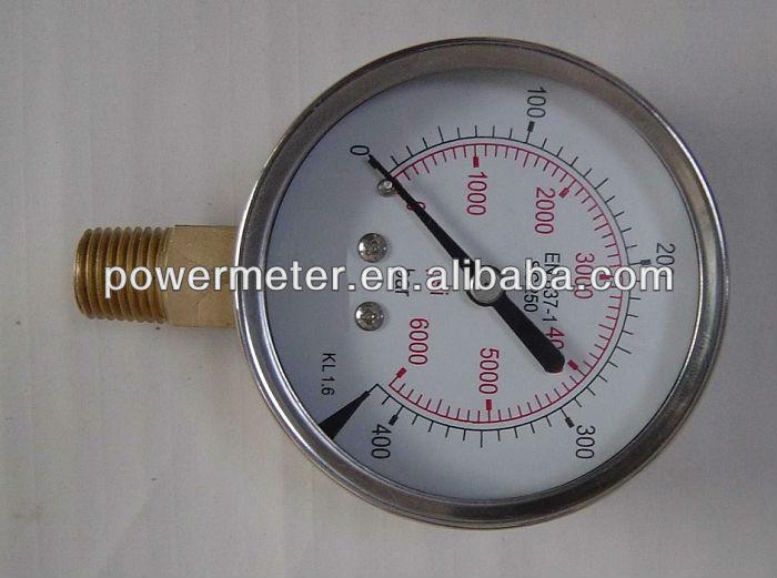 ( y-- 100) 100mm اتصال النحاس ارتفاع ضغط متر نوع بوردون