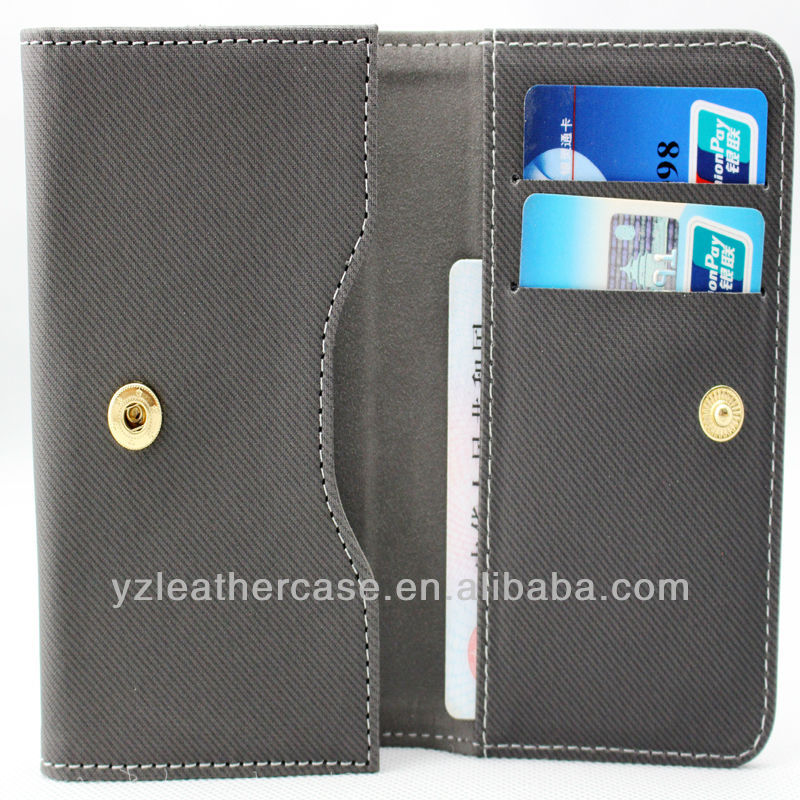 Wallet card leather case with stand function cell phone holster FOR HUAWEI A199/SAMSUNG I9150/SAMSUNG S4 MINI / LENON K900 / BBK