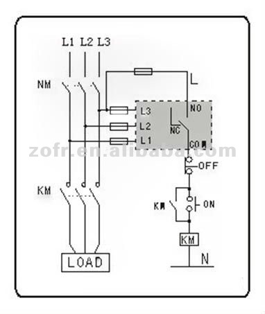 Phase Failure Relay Wiring Diagram on 230v single phase wiring diagram