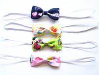 Детский аксессуар для волос 10pcs/lot Tiny Candy Color Ribbon Bow+ Thin Elastic band, Baby girl headbands, Kids hair accessories, Infant Headwear 080
