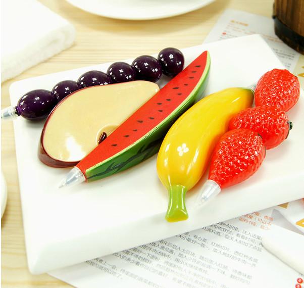 17pcs различные формы фермы фрукты и овощи creative Канцтовары прекрасный реалистичные мультфильм милый шариковая ручка с магнитом
