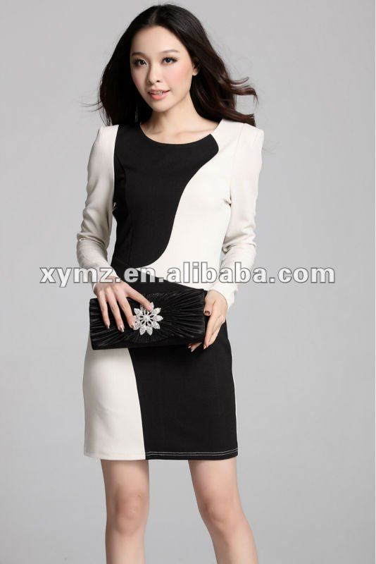 Office Blouses Designs Dresses http://www.alibaba.com/product-gs/640733401/two_toned_fitted_ladies_designer_office.html