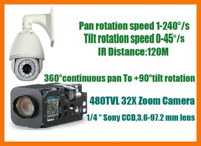 NP9600 ptz ip camera outdoor, IR Distance:120M, 32X Zoom, 480TVL, Supports Onvif, 960*560 resolution,ip high speed dome camera