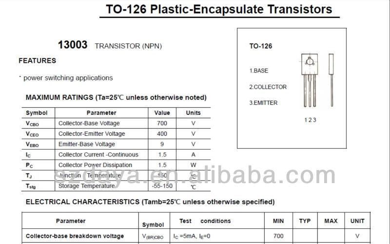 транзисторы 13003