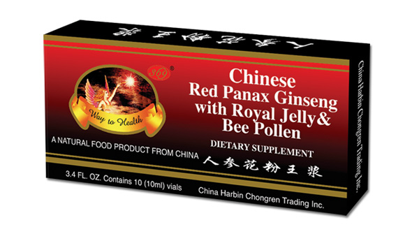 Chinese Red Panax Ginseng Royal Jelly & Bee Pollen