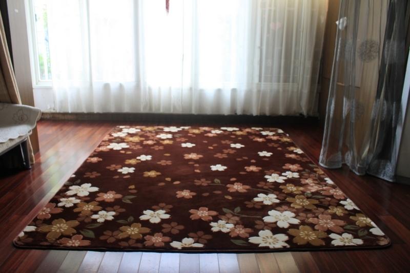 Romantic sakura alfombra rea mat acr lico moderna - Alfombras para el hogar ...
