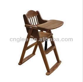 A la venta silla de comedor de madera para el beb for Silla de bebe de madera