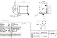 Шаговый двигатель ACT 4/19kgcm 1.8degre 76 NEMA 23 CE, 23HS8430