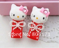 Детский аксессуар для волос 20 pcs hello kitty children's hair clip baby hair bow korean hair accessories girls wafer kids accessories #34
