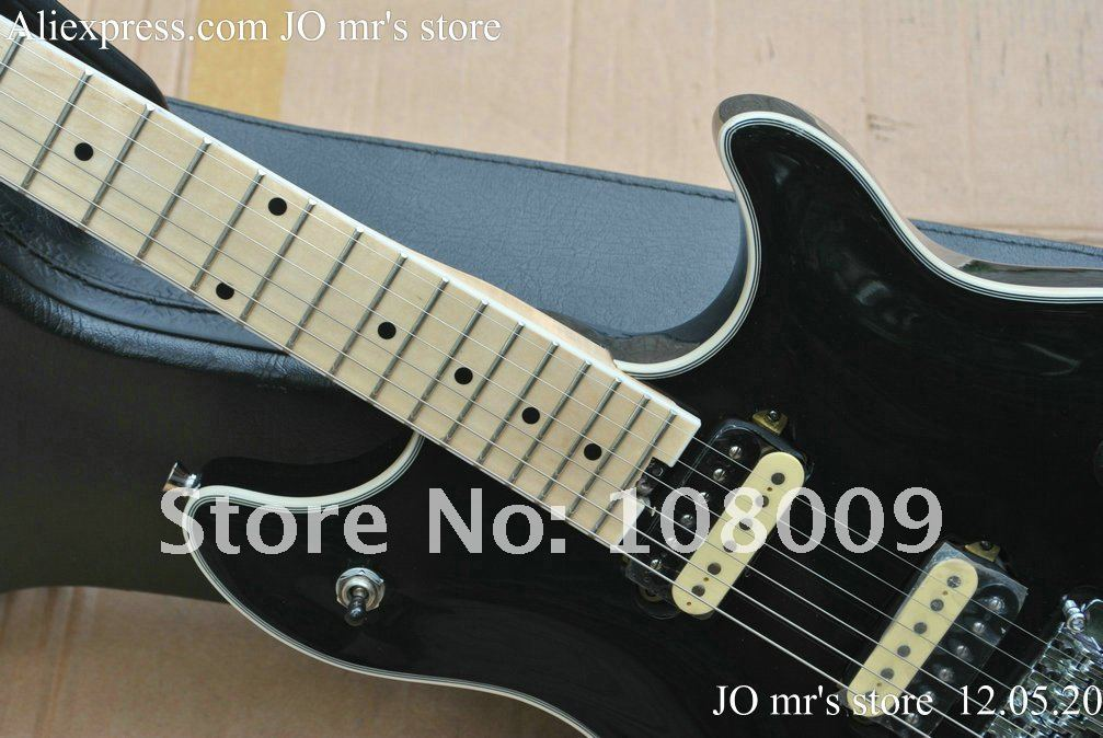 HOT SALE EVH Wolfgang Edward Van Halen guitar Black colour with Wammy Bar Vibratco electric guitar in stock free shipping