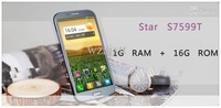 Потребительские товары 5.7 inch Star S7599T MTK6589T 1.5GHz Quad core phone 1GB+16GB 3G WCDMA WiFi GPS AGPS Dual Camera 12MP+3.2MP