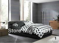 4 or 5pcs Full Queen Beds Black and white Plaid Comforter Bedding Sets Doona Covers Bedsheet Pillowcase 100% Cotton Reversible
