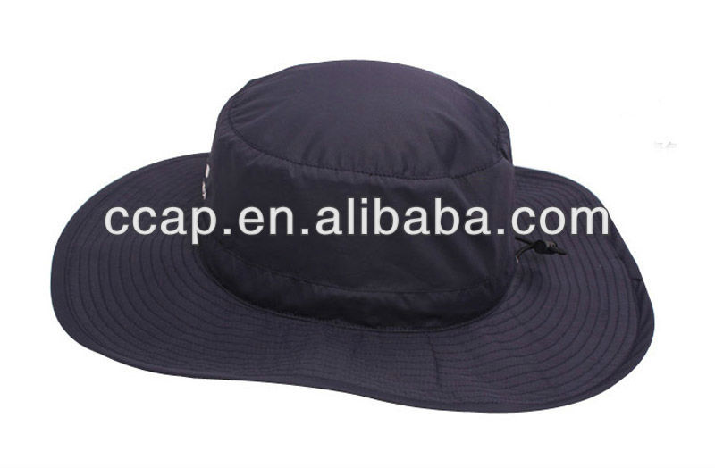 2015 Custom wide brim flat top bucket hat