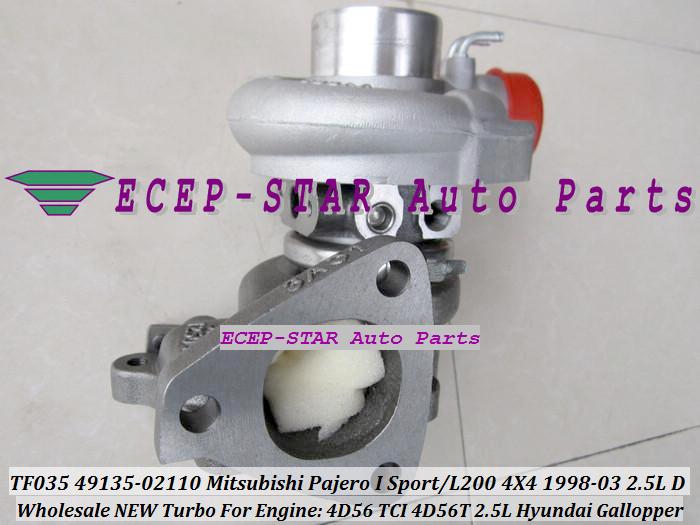 ECEP TF035 49135-02110 Turbo Turbocharger For Mitsubishi Pajero I Sport L200 4X4 2.5LD 1998-03 HYUNDAI Gallopper 2.5L 4D56 TCI 4D56T with gaskets (3).JPG