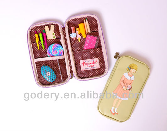 Fashional multifunction school pencil case for girls
