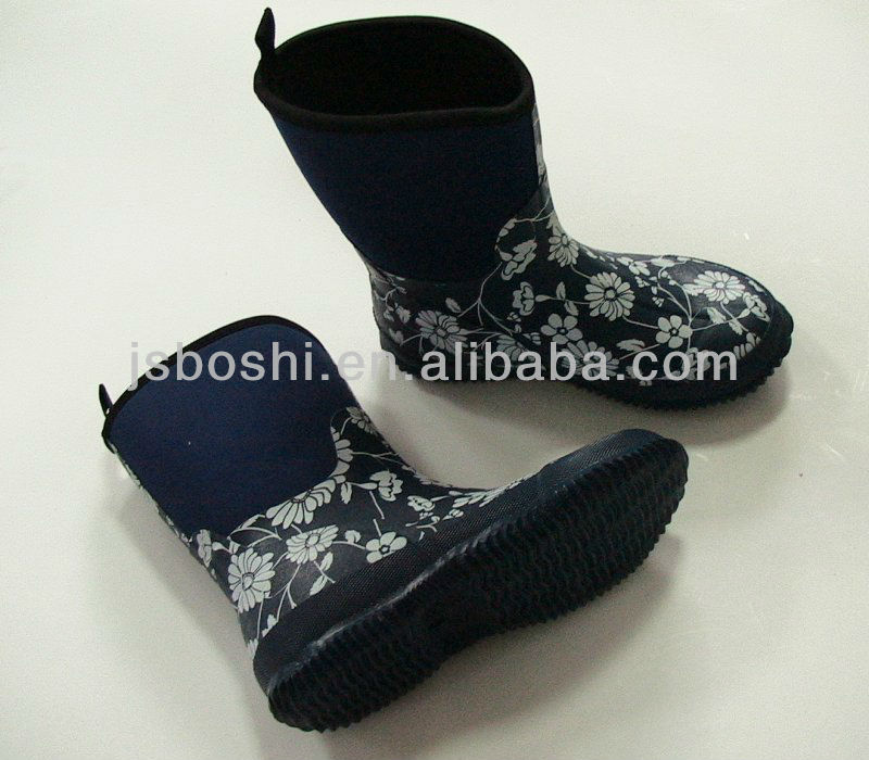 kid's neoprene boot/rain boot/outdoor boot