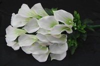New!2012 Bridesmaids Wedding Flowers Bridal Bouquet White Roses Artificial Floral Florist Gifts Wholesale Free Shipping!