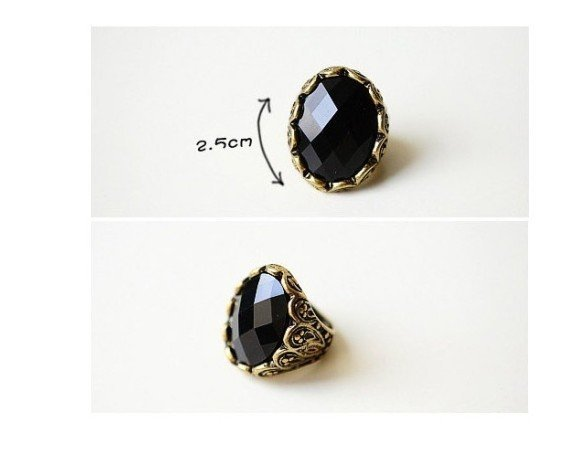 Free shipping Fashion Jewelry Hotsale Ring Free Shipping Retro Black Diamond Finger Ring 12pcs/lot