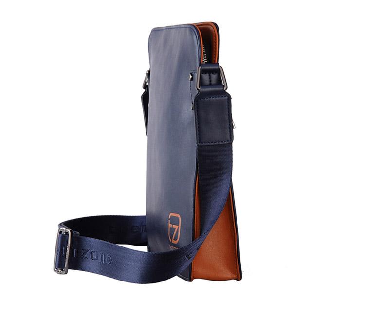 Teemzone Men's Genuine Leather Messenger Shoulder School Bag Satchel C