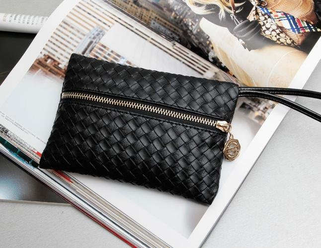 2012 spring new European American vintage black woven day clutches evening bag