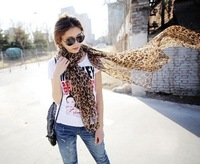 Min order $10 (Mix Order) HOT Ladies' Scarf Leopard Scarf Chiffon Scarf AZ-0011