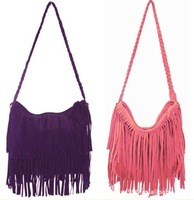 Маленькая сумочка NEW HOT! 5 COLOR Women's Girl's Tassel Fringed Shoulder Bag Cross Body Bag Messenger BG-009