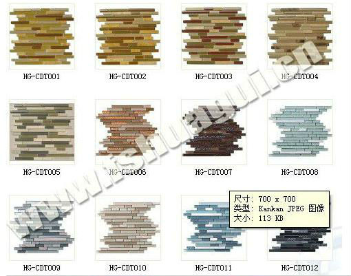 popular in Romania glass crystal mosaic tiles HG-423056
