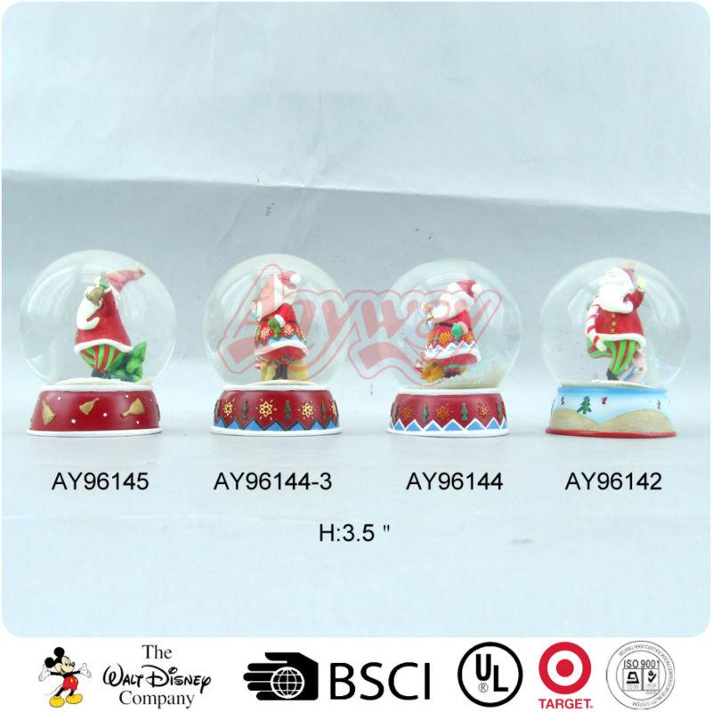 Polyresin santa claus christmas snow globe wholesale