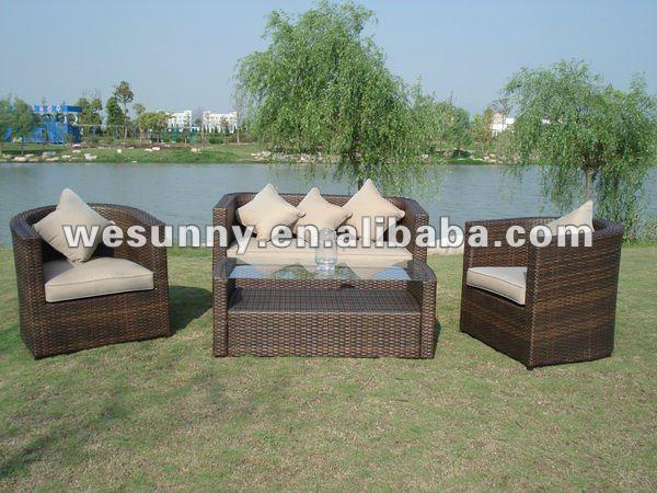 mobiliario de jardim em rattan sintetico:Pátio ratan móveis conjunto de sofá-Conjuntos de jardim-ID do