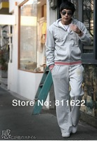 Мужская ветровка fashion sports wear for men gym suits cotton leisure tracksuit / sweatsuit hoodied sport suits 4 color M-XXXL