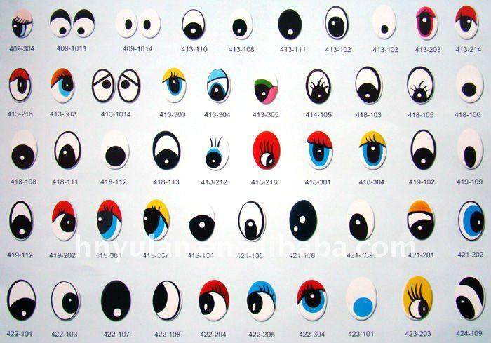 de dibujos animados de plástico ojo de los ojos de juguete de ...