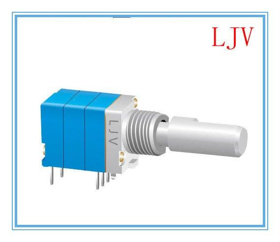Rotary potentiometer 5k 10k 50k 100k 500k with 0 5mm push on switch