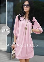 Free shipping - the code dress of silk chiffon dress 0223