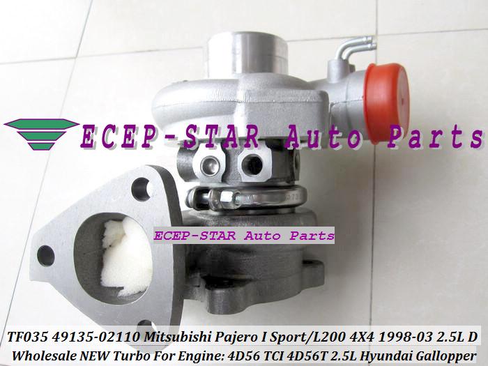 ECEP TF035 49135-02110 Turbo Turbocharger For Mitsubishi Pajero I Sport L200 4X4 2.5LD 1998-03 HYUNDAI Gallopper 2.5L 4D56 TCI 4D56T with gaskets (2).JPG