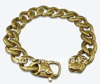 Браслет из нержавеющей стали New Arriavl Heavy Fashion Mens Stainless Steel Bangles Bracelets 22cm Gold Jewelry MC05