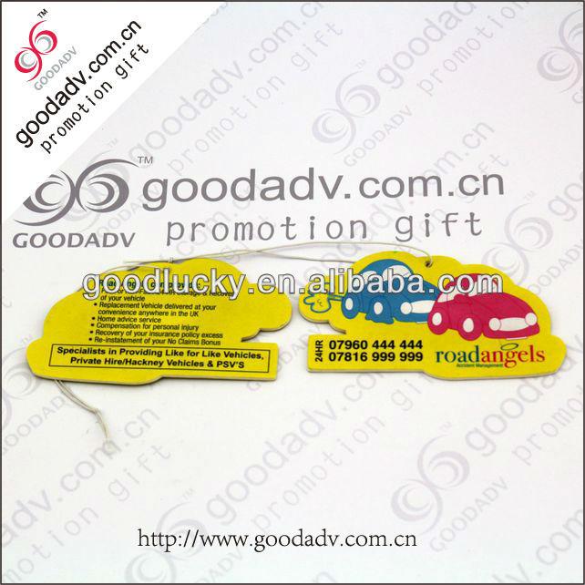 Hanging paper car air freshener / car air wick / paper air freshener for cars