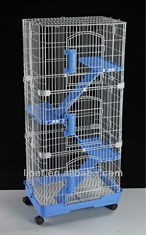 C-140, wire plastic 4 level cat cage, luxury big cat cage