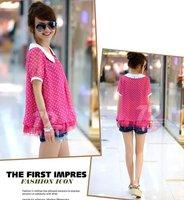 Корея рубашки рубашки женские модные блузки рубашки Топы женщин одежду летняя блузка