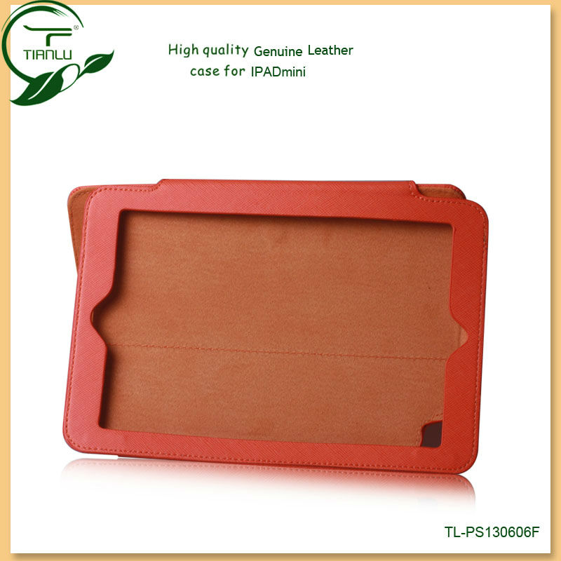 For ipad mini mobile phone accessories,genuine leather case for ipad mini,for ipad mini leather case cover