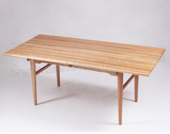 Tl032 Hans Wegner Ch327 Ash Wood Dining Table View Hans