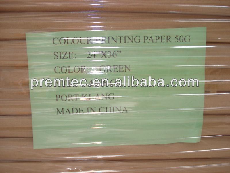 Best sale 50gsm bond paper pink yellow green blue