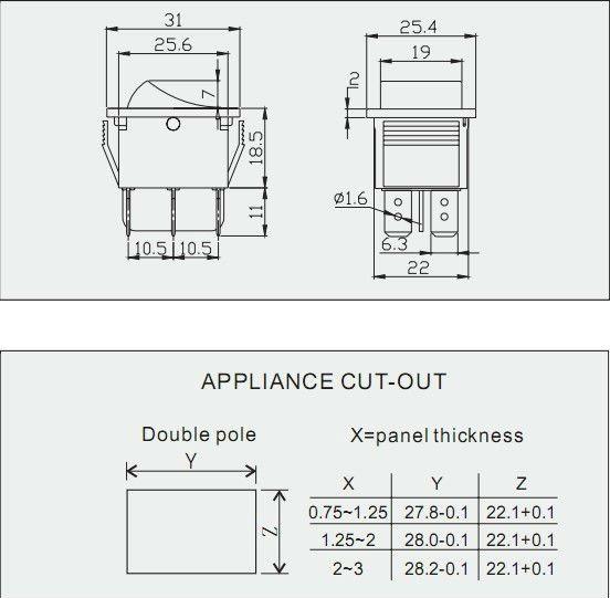 Vente chaude double pôle 2015 on-off,interrupteur à bascule avec on-on/sans lampe de fabrication en chine