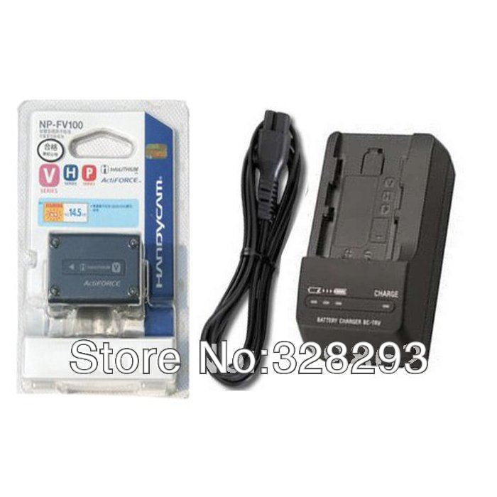 NP-FV100 Camera Original Rechargeable Li-ion Battery + BC-TRV Charger For Sony Digital Camera Free Shipping