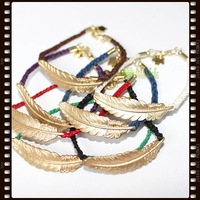 Min.order is $10 (mix order) LOL-MALL  Handmade shamballa  feather Amulet bracelet  wholesale Jewelry  #86130005 women
